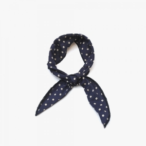 Wire Cooling Scarf (Dot Navy)