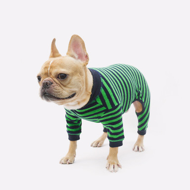Cozy All-in-one (Stripe-Green)