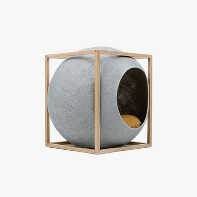 The Cube_Wood (Light Grey)