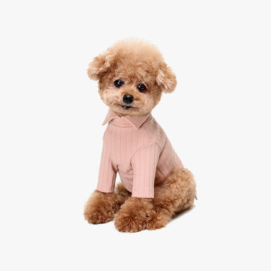 허츠앤베이 Rib Collar Knit (Indi Pink)
